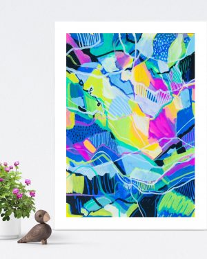 Dreams and Visions - Original Fine Art Colorful Abstract Print