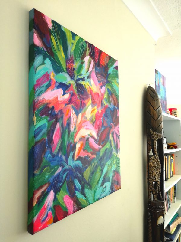 """In Full Bloom"" Original Abstract Painting Lincoln"