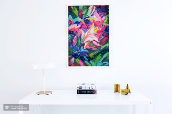Full Bloom Original Abstract Painting British Art