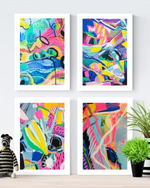 Happy Moments - Set of 4 Fine Art Prints