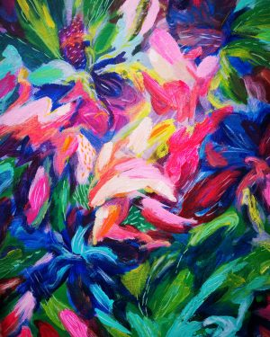Full Bloom Original Abstract Painting British Art